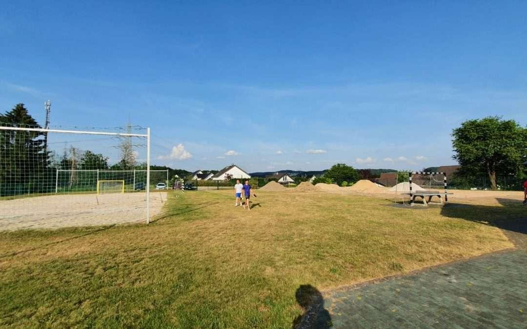 1. Arbeitseinsatz für die männliche B-Jugend auf dem Pützberg